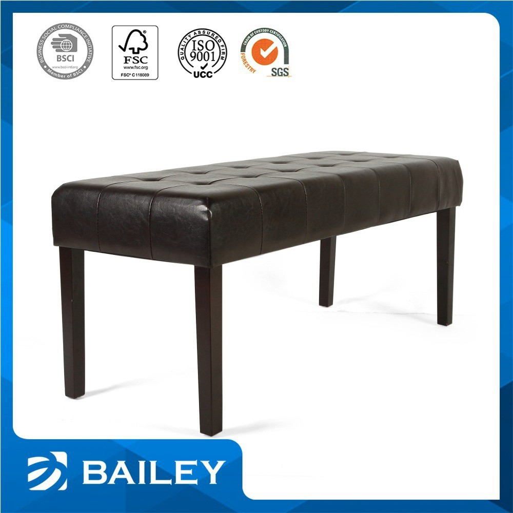 Best Selling Wholesell Upholstered Leather Storage Bench