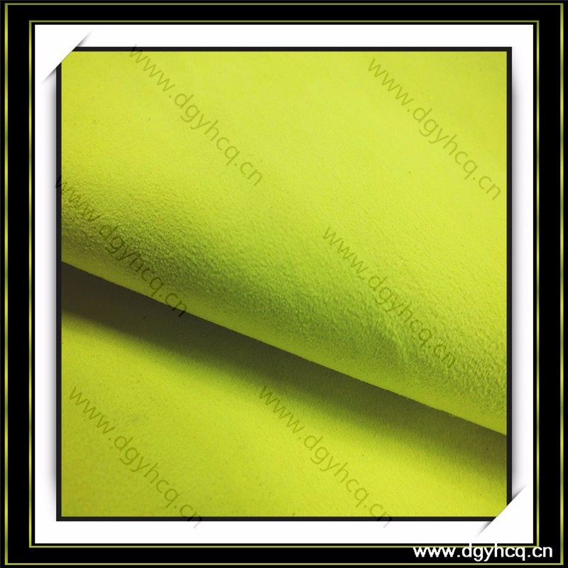 nonwoven back 0.6mm thick microfiber suede fabric for gloves