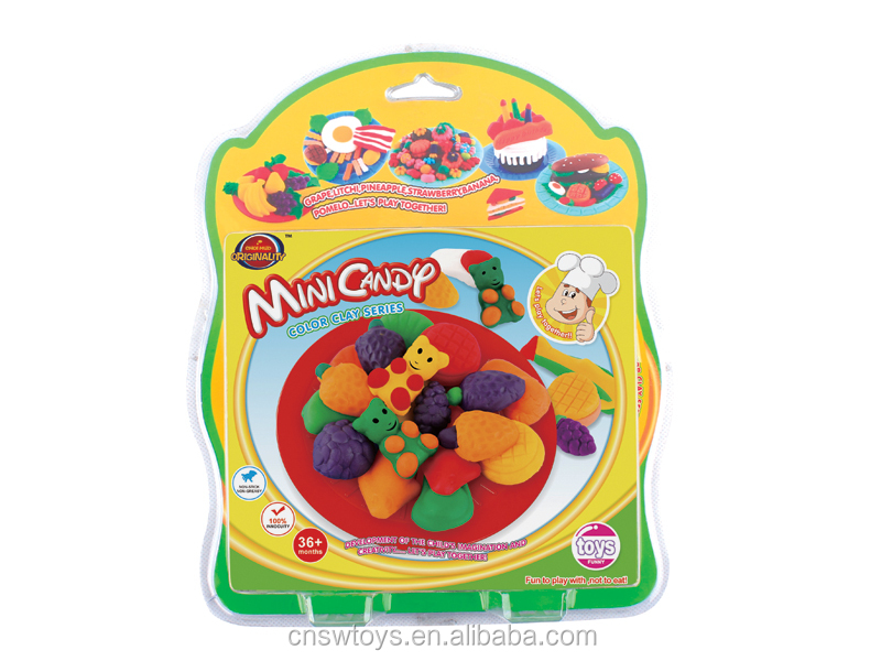 QT4715064 Kids educational DIY toy set animal world color clay with mold