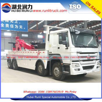 Heavy Duty HOWO Towing Tractor Wrecker Truck 25 Ton 40 Ton Recovery Truck For Sales
