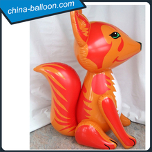 PVC giant inflatable fox cartoon model/ground animal fox toy for commercial