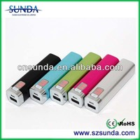 LCD Display Power Banks with 2200mAh Capacity, Tube Shape Powr Bank for Cellphone