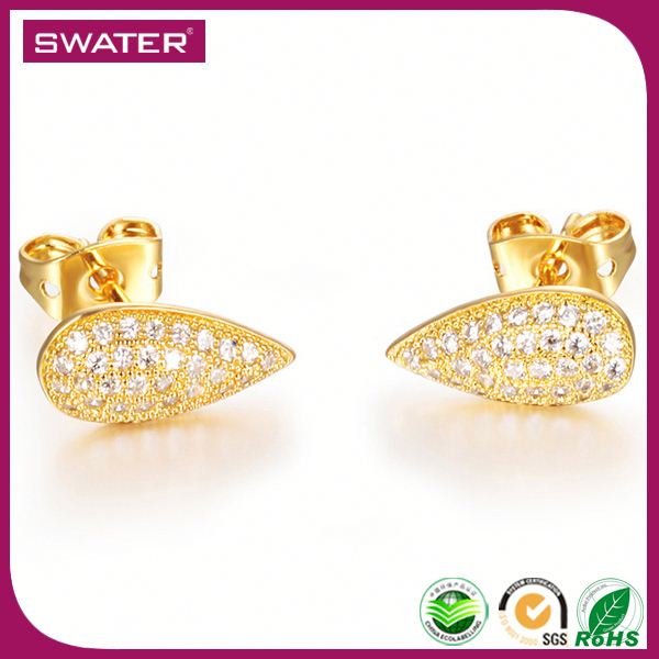 Best Selling Products In Europe 2016 Waterdrop One Gram Gold Earrings Designs Jewelry