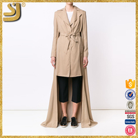 SHANGYI leopard print trench coat, protective women lightweight trench coat