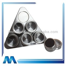 7pcs magnetic stainless steel spice shaker set