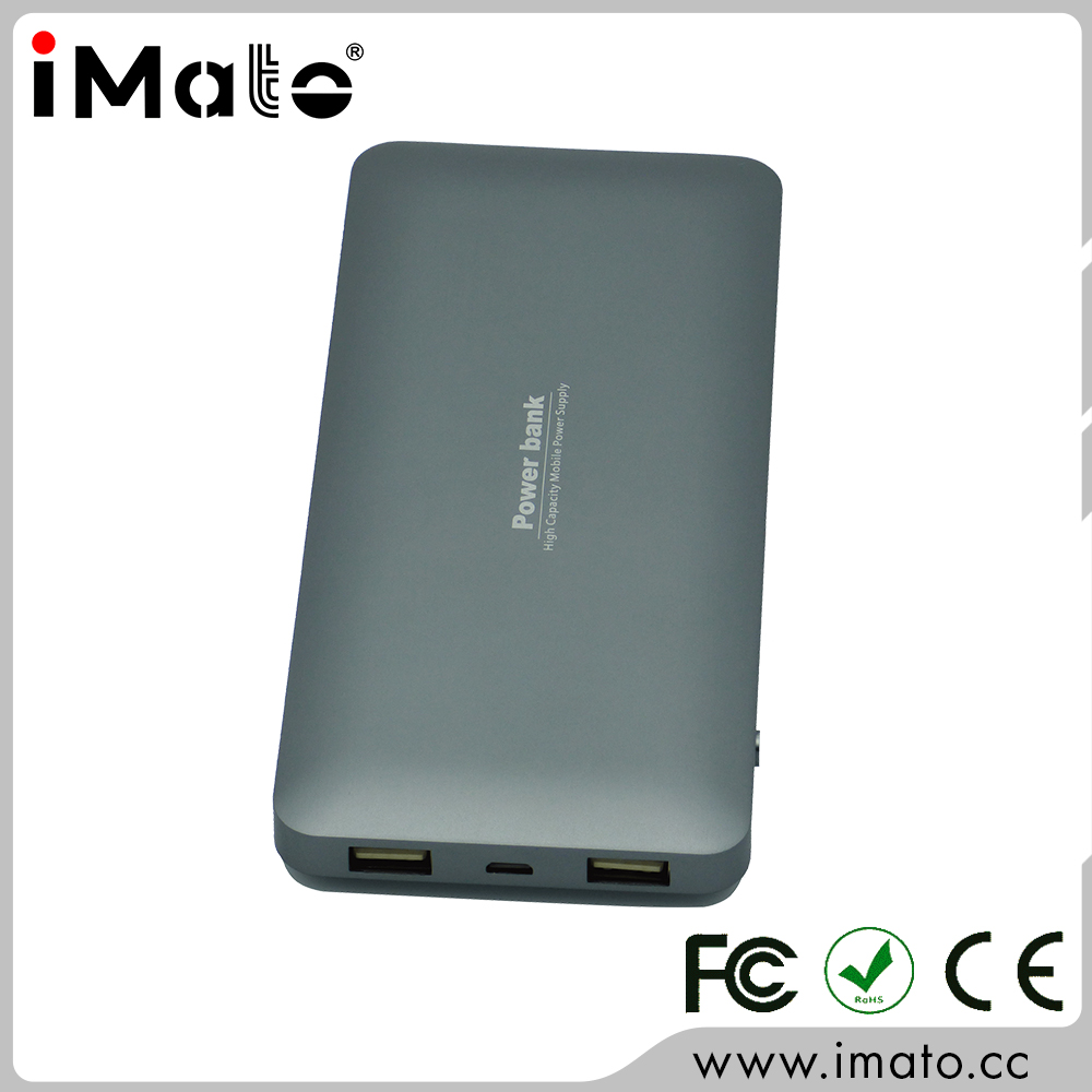 Dual USB Ports 10000mah Metal Lithium Polymer Battery Power Bank Changer
