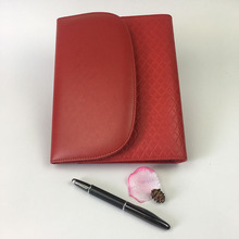 Business Red PU leather organizer agenda/portfolio, agenda organizer planner notebook with Invisible magnetic closure