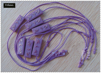 Fashion manufacturers custom garment hang tag string