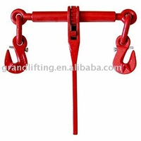 EN12195-3 ratchet load binder cargo lashing with hooks
