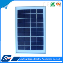 Custom Black Outdoor Solar Charger 5W Poly Solar Panel