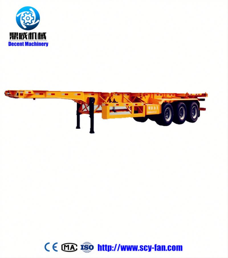Flat bed trailer container twist lock for fixing lock container