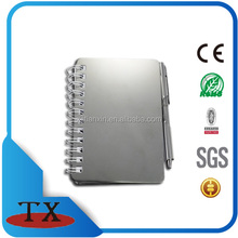 OEM Promotional custom recycled aluminum notepad / notepad / note book with ball pen