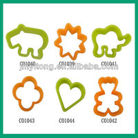 peony flower cutter,flower shape fruit cutter,silicone flower cutter