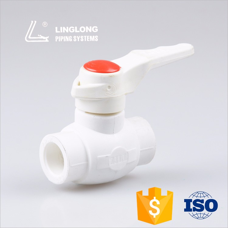 Standard water supply brass ball valve with ppr body for sale