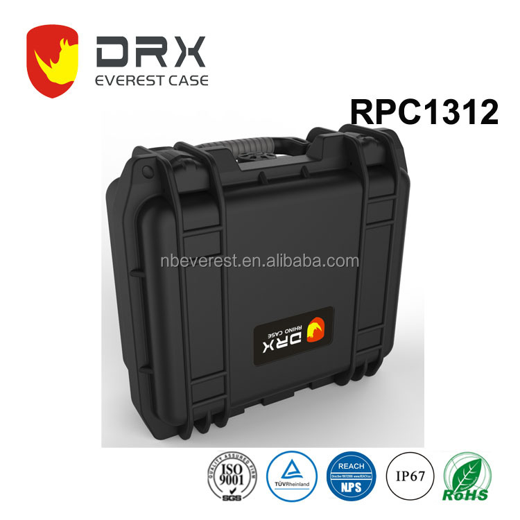 IP67 Waterproof hard High-Impact plastic equipment carrying file case with handle