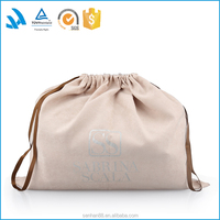 Customized Drawstring Cotton Dust Covers, T Shirt Bag, Dress dust bag Velvet Suede Material