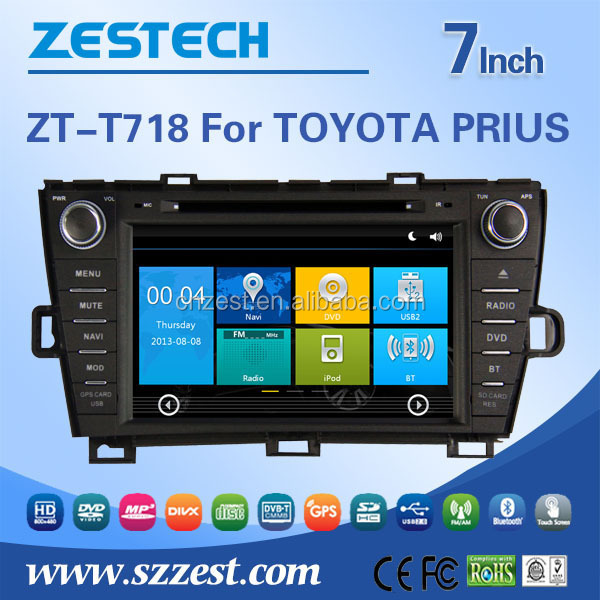 CE FCC RoHs Certification DVD 2 din Car Lcd Monitor For Toyota PRIUS 2009-2013 Car Lcd Monitor Bluetooth SD USB Radio wifi 3G