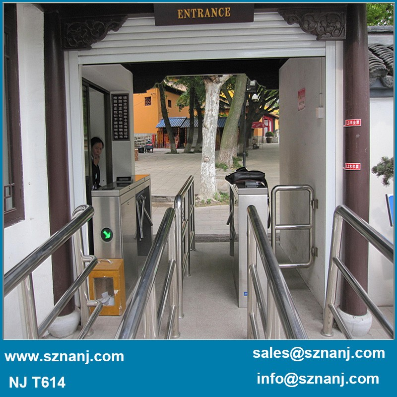 crowd control bi directional fingerprint tripod turnstile for university
