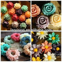 resin flower cabochons for diy Hair clips, making jewelry,phone decoration