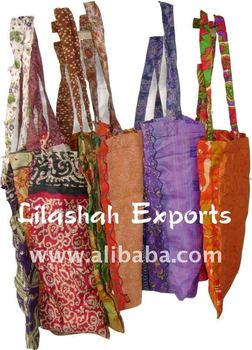 2176 Silk Vinatge Saree Shopping Bag Ropa Manufacturer Exporter India