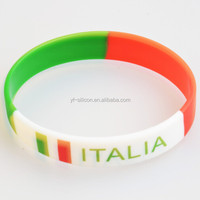 Wholesale Country Flag Bracelet Italy Silicone Rubber Bracelet