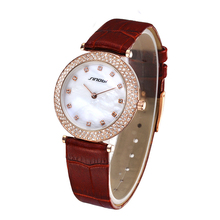 Elegant ladies Japan movt diamond quartz watch with changeable straps