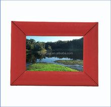 Elegant Red leather photo frame for picturs B06-027