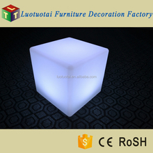 Color changing large led cube 50x50x50 led meubels for outdoor lawe use