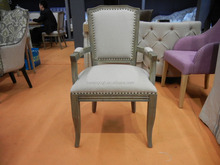 antique upholstered windsor old french dining chair with arms