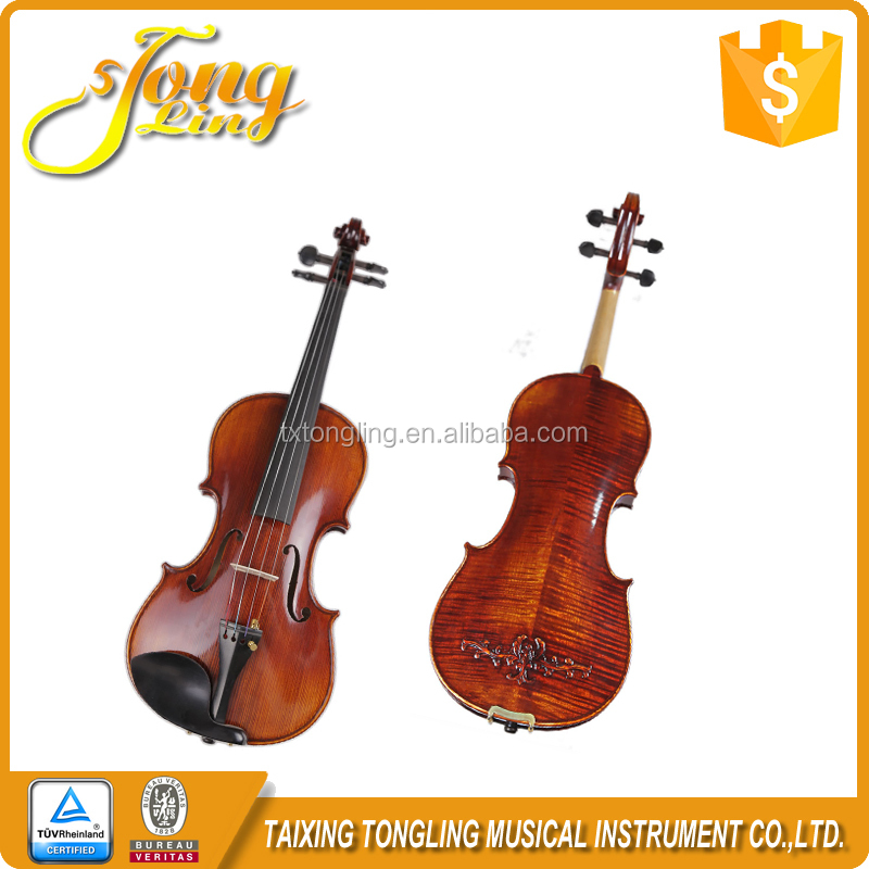 TL006-2) Professional handmade solidwood carving violin 4/4 size with violin bow ,case and rosin
