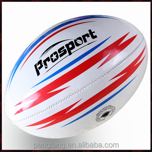 official size 6 machine stitched custom rugby ball