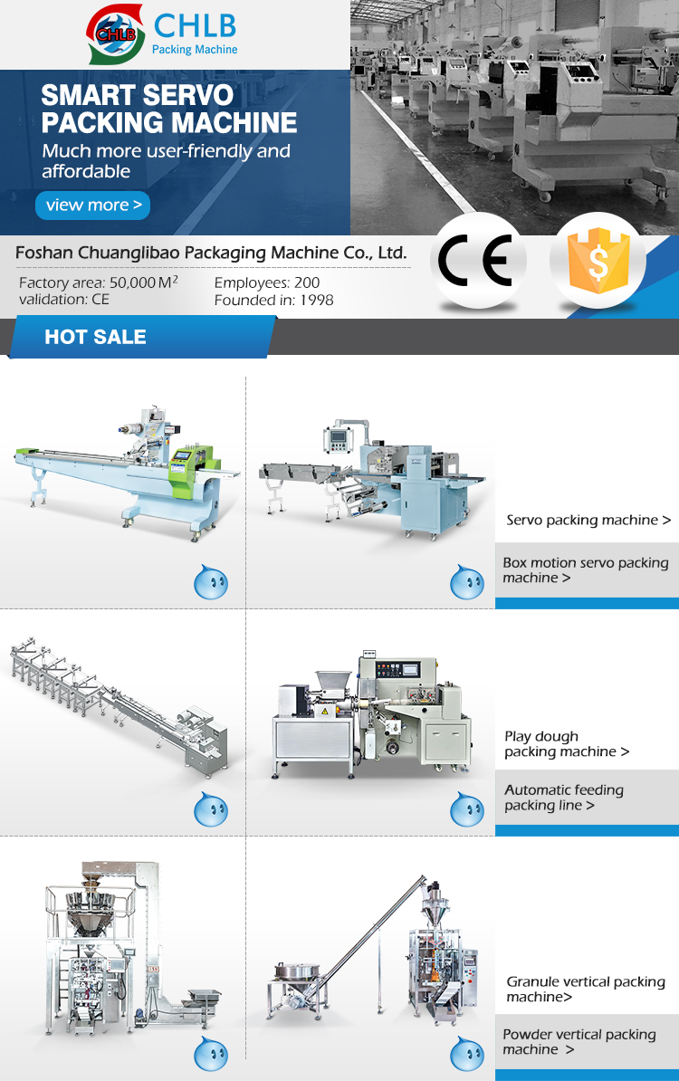 Cereal granola energy bar packaging machine