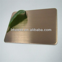 SUS304 bronze hairline finish stainless steel sheet