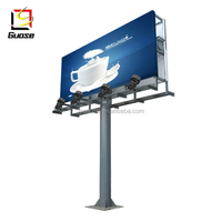 Highway road sign Outdoor Advertising steel led Billboard structure