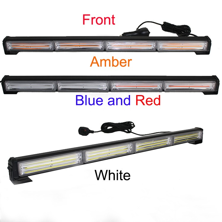 12V Waterproof Red strobe lights emergency vehicles warning light bar