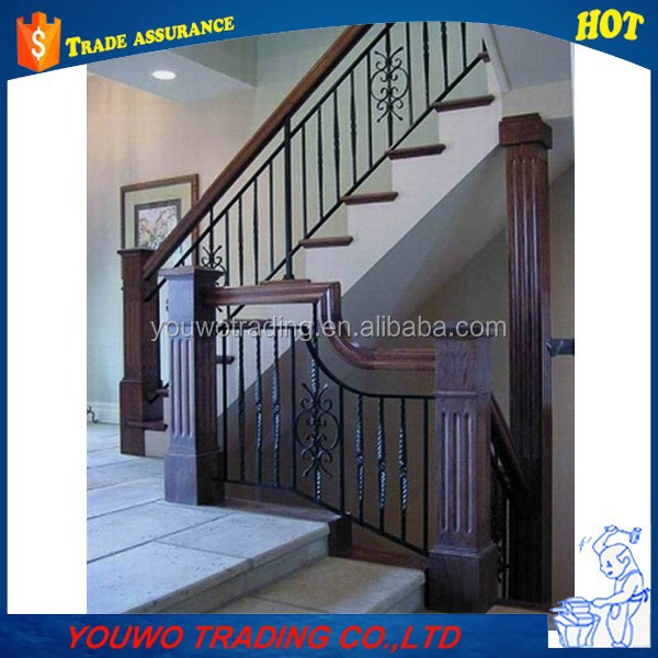 2015 manufacturer Wrought Iron Scroll Balusters for staircase fence