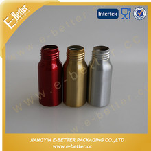 Luxury Cosmetic Bottles Empty Aluminum Bottle Screw Cap
