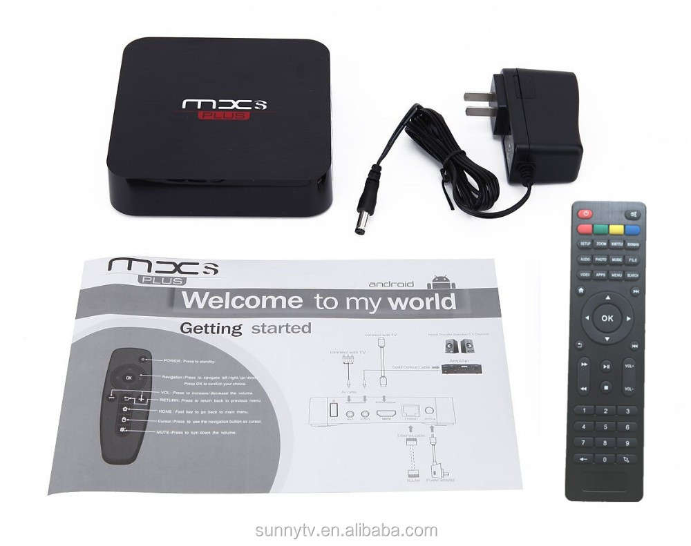 2016 Amlogic S905 Android 5.1 TV Box MXS+ Quad Core1G/8G Kodi Pre-installed WiFi 4K 1080P Media Player MX Maufacturer