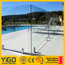 swimming pool glass panels/fiberglass swimming pool