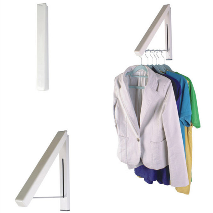 Home accessories aluminum multi-purpose drying racks folding telescopic racks wall mounted clothes hanger rack
