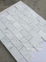 "3""x6"" carrara brick look white marble mosaic interior decorative wall tile price"