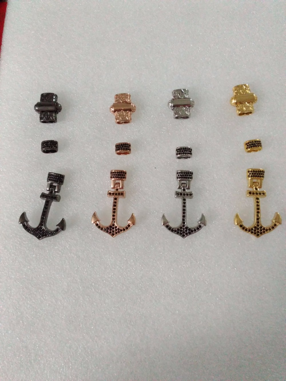 Jewelry Making Accessrioes Anchor Hook Stainless steel Zircon Wire Nautical Anchor Charm Diamond