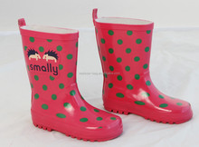 Hedgehog and round dot printing pvc rain boots machine