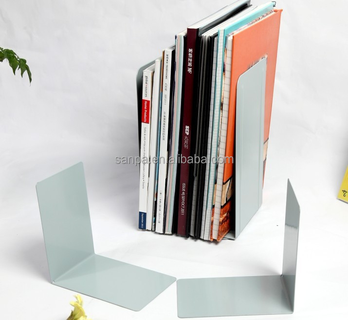 Metal reading bookend bookstand book holder with 5.7 inch height