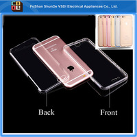 360 Protective Ultra Thin Slim Transparent Clear Soft TPU Case Cover Perfect Full Fit Back Cover For iPhone 6 6s plus