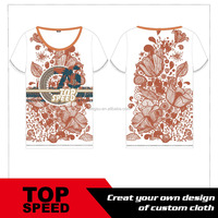 digital printing flower shirt dry fit shirt whole sales T shirt