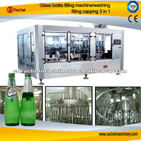 Glass bottle energy drink 3 in 1 filling machine