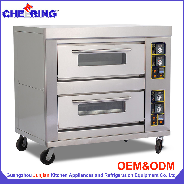G24B two layer four tray pastry cake baking gas oven / brick pizza oven
