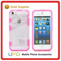 [UPO] Fashion tpu hybrid combo phone case clear back cover case for iPhone 5/5s