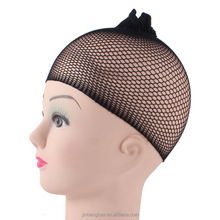 Higher quality black stretchable elastic hair nets snood wig cap cool mesh black hair wig net